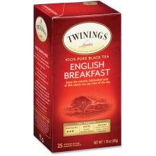 Twinings English Breakfast Black Tea - Black Tea - English Breakfast - 25 Cup - 25 / Box