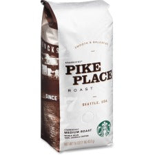 Starbucks Pike Place Medium Roast Coffee - Caffeinated - Pike Place - Medium - 16 oz - 1 Each