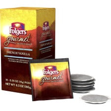 Folgers® Gourmet Selections French Vanilla Coffee Pod - Regular - French Vanilla - 0.4 oz - 108 Pod - 108 / Carton