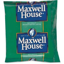 Maxwell House Decaffeinated Coffee Packs Ground - Decaffeinated - 1.1 oz - 42 / Carton