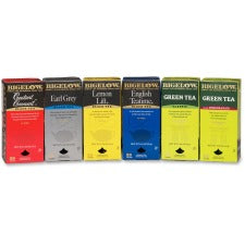 Bigelow Assorted Flavored Teas - Black Tea, Green Tea - Assorted - 6 / Carton