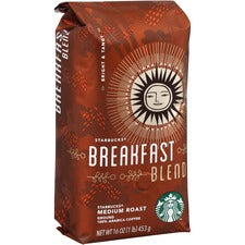 Starbucks Breakfast Blend 1 lb. Ground Coffee - Breakfast Blend, Smoky - Medium - 16 oz Per Bag - 1 Each