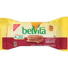 belVita Breakfast Biscuits - Individually Wrapped, Hydrogenated Oil-free, No Artificial Flavor, Sweetener-free - Brown Sugar - 1.76 oz - 8 / Box