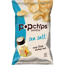 Lil' Drug Store PopChips Flavored Potato Snack - Gluten-free, No Artificial Color, Preservative-free, No Artificial Flavor - Sea Salt - 3.54 oz - 6 / Carton