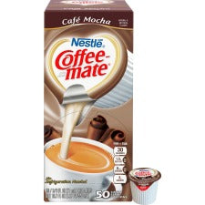 Nestlé® Coffee-mate® Coffee Creamer Café Mocha - liquid creamer singles - Cafe Mocha Flavor - 0.38 fl oz (11 mL) - 50/Box - 1 Serving