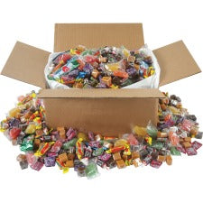 Office Snax Soft Chewy Assorted Candy Mix - Assorted - Resealable Container - 10 lb - 1 / Box Per Box