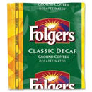 Folgers® Decaffeinated Classic Roast Coffee - Decaffeinated - 1.5 oz - 42 / Carton