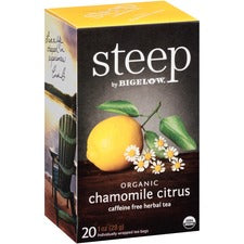 Bigelow Chamomile Citrus Herbal Tea - Herbal Tea, Decaffeinated - Chamomile Citrus - 1 oz - 120 Teabag - GMO Free - Kosher - Organic - 20 / Box