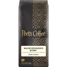 Peet's Major Dickason's Blend Dark Roast Ground Coffee - Regular - Major Dickason's - Smooth - 16 oz Per Bag - 1 Each