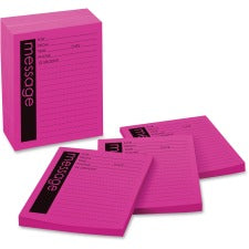 "Post-it® Important Telephone Message Pads - 50 Sheet(s) - 5 7/8"" x 3 7/8"" Sheet Size - Pink - Pink Sheet(s) - 12 / Pack"