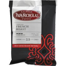 PapaNicholas French Roast Coffee Ground - Regular - Spicy, French Roast - Dark/Bold - 2.5 oz - 18 / Carton