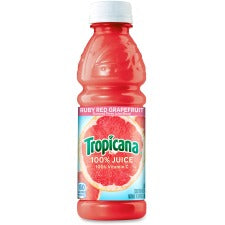 Tropicana Bottled Ruby Red Grapefruit Juice - Grapefruit Flavor - 10 fl oz (296 mL) - Bottle - 24 / Carton