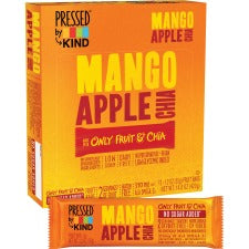 KIND Pressed Mango Apple Chia Fruit Bars - Dairy-free, Gluten-free, Non-GMO, Low Sodium, Low Fat - Mango Apple Chia - 1.23 oz - 12 / Box