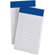 "TOPS Perforated Medium Weight Writing Pads - 50 Sheets - 15 lb Basis Weight - 3"" x 5"" - White Paper - Chipboard Backing, Sturdy Back, Micro Perforated, Easy Tear - 12 / Dozen"