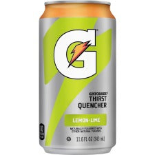Quaker Oats Gatorade Can Flavored Thirst Quencher - Ready-to-Drink - Lemon Lime Flavor - Can - 24 / Carton