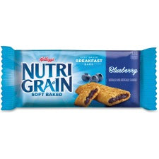 Kellogg's&reg Nutri-Grain&reg Bar Blueberry - Individually Wrapped, Low Fat - Blueberry - 16 / Box