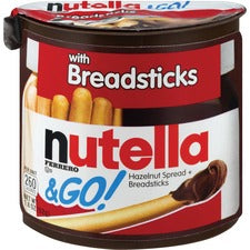 Nutella Nutella & GO Hazelnut Spread & Breadsticks - 1.23 oz - 12 / Box