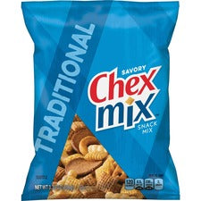 Chex Mix Traditional Snack Mix - Corn, Wheat - 3.75 oz - 8 / Carton