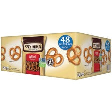 Snyder's Fat Free Mini Pretzels - Carton - 1.50 oz - 48 / Carton