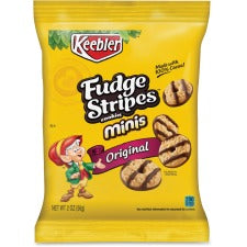 Keebler® Fudge Stripes™ Minis - 1 Serving Bag - 2 oz - 8 / Box
