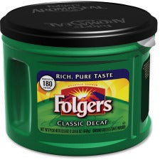 Folgers® Classic Decaffinated Coffee - Decaffeinated - 22.6 oz - 6 / Carton