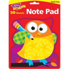 "Trend Owl-Stars Shaped Note Pads - 50 Sheets - 5"" x 5"" - Multicolor Paper - Acid-free - 50 / Pad"