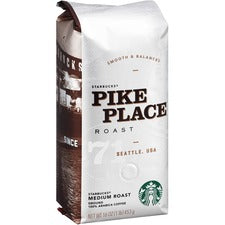 Starbucks Pike Place Ground Coffee - Pike Place, Cocoa, Nut - Medium - 16 oz - 1 Each