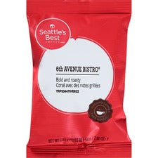 Seattle's Best Coffee 6th Avenue Bistro Ground Coffee - Chocolate - Dark - 2 oz - 18 / Box