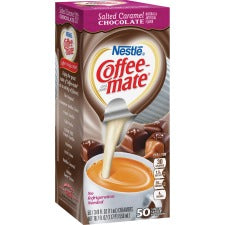 Coffee-Mate Salted Caramel Chocolate Creamers - Salted Caramel Chocolate Flavor Mini Cup - 50/Box - 1 Serving