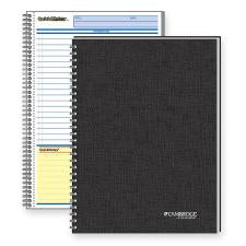 "Mead QuickNotes 1 - Subject Business Notebook - Jr.Legal - 80 Sheets - Wire Bound - 20 lb Basis Weight - 5"" x 8"" - White Paper - Black Binder - Black Cover - Linen Cover - Perforated, Subject, Bond Paper - 1Each"