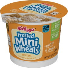 Kellogg's&reg Frosted Mini-Wheats&reg Cereal-in-a-Cup - Cup - 1 Serving Cup - 2.50 oz - 6 / Box