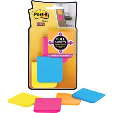 "Post-it® Super Sticky Full Adhesive Notes - Rio de Janeiro Color Collection - 200 - 2"" x 2"" - Square - 25 Sheets per Pad - Unruled - Assorted - Paper - Self-adhesive, Removable - 200 / Pack"