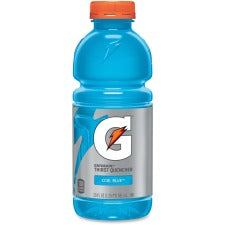 Gatorade Thirst Quencher Bottled Drink - Cool Blue Raspberry Flavor - 20 fl oz (591 mL) - Bottle - 24 / Carton