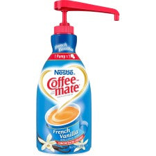 Nestlé® Coffee-mate® Coffee Creamer French Vanilla - 1.5L liquid pump bottle - French Vanilla Flavor - 50.72 fl oz (1.50 L) - 1Each - 300 Serving