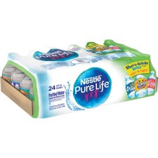 Pure Life Purified Bottled Water - 8 fl oz (237 mL) - Bottle - 24 / Carton