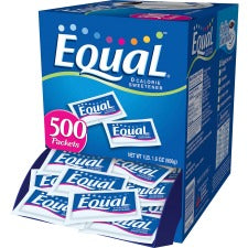 Equal Zero Calorie Original Sweetener Packets - 0 lb (0 oz) - Artificial Sweetener - 500/Box