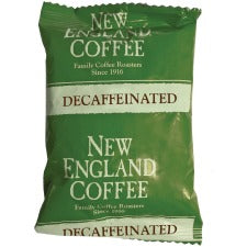 New England Decaffeinated Breakfast Blend Coffee Portion Pack - Decaffeinated - Breakfast Blend - Light/Medium - 2.5 oz Per Pack - 24 / Carton