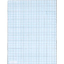 "TOPS 8 x 8 Ruled Quadrille Pads - Letter - 50 Sheets - Both Side Ruling Surface - 20 lb Basis Weight - 8 1/2"" x 11"" - White Paper - 50 / Pad"