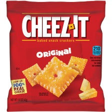 Cheez-It&reg Original Crackers - Cheese - 1 Serving Bag - 8 / Box