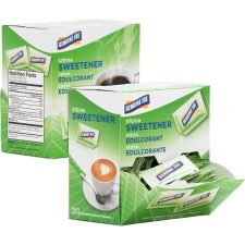 Genuine Joe Stevia Natural Sweetener Packets - PacketStevia Flavor - Natural Sweetener - 400/Carton