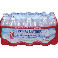 Crystal Geyser Water Alpine Spring Bottled Water - Ready-to-Drink - 16.90 fl oz (500 mL) - 24 / Carton / Bottle
