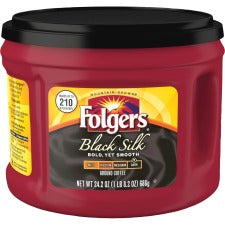 Folgers® Black Silk Dark Ground Coffee Ground - Regular - Black Silk - Dark - 24.2 oz Per Canister - 1 Each