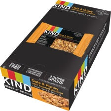 KIND Oats/Honey Toasted Coconut Grains Bar - Cholesterol-free, Non-GMO, Individually Wrapped - Honey, Coconut, Oat - 1.20 oz - 12 / Box