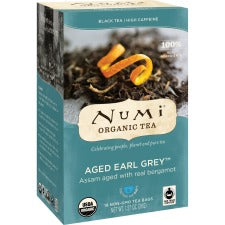 Numi Aged Earl Grey Organic Black Tea - Black Tea - Earl Grey - 18 Teabag - 18 / Box