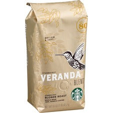 Starbucks Veranda Blend Whole Bean Coffee Whole Bean - Veranda Blend, Latin America, Vanilla, Caramel, Hazelnut, Soft Cocoa, Toasted Nut, Arabica - Light - 16 oz - 1 Each