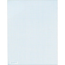 "TOPS 5 Square/Inch Quadrille Pads - Letter - 50 Sheets - Both Side Ruling Surface - 20 lb Basis Weight - 8 1/2"" x 11"" - White Paper"
