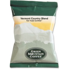Green Mountain Coffee Vermont Country Blend Regular Coffee - Regular - Vermont Country Blend - 2.2 oz - 100 CoffeeBag - 100 / Carton