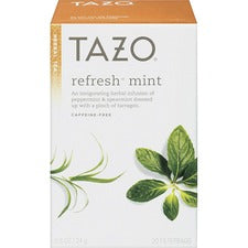 Tazo Tea - Herbal Tea - Refresh, Mint, Tarragon - 24 Filterbag - 24 / Box