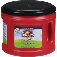 Folgers® 1/2 Caff Coffee - Regular - Arabica - Medium - 25.4 oz - 1 Each