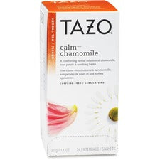 Tazo Calm Blend Herbal Tea - Herbal Tea - Calm Blend - 24 Filterbag - 24 / Box